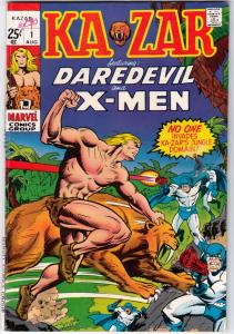 Ka-Zar Featuring Daredevil and the X-Men #1 (Aug-70) FN/VF+ High-Grade Ka-Zar