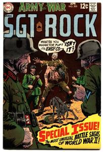 OUR ARMY AT WAR #205 comic book 1969-D.C. WAR SILVER-AGE-SGT. ROCK