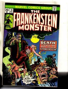 Monster Of Frankenstein # 10 NM- Marvel Comic Book Horror Fear Scary FM2