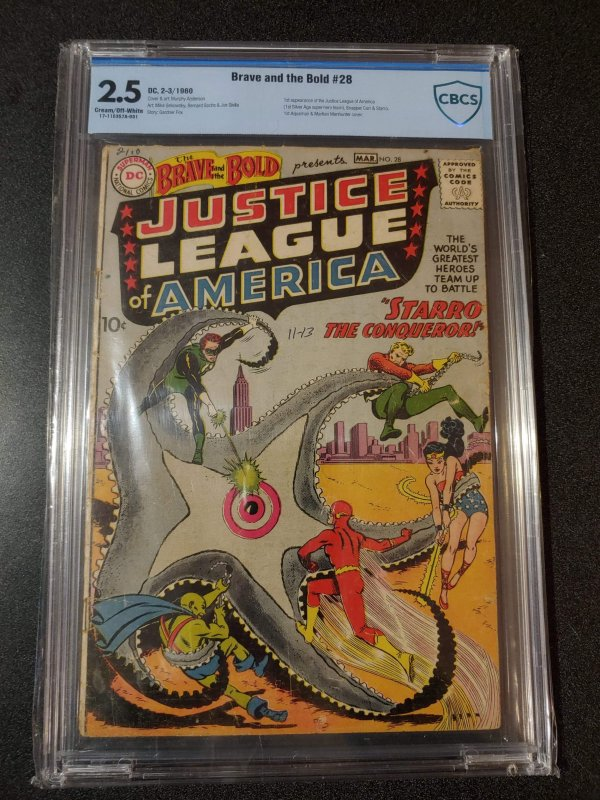 Brave and the Bold #28 = 1st Justice League of America - CBCS 2.5