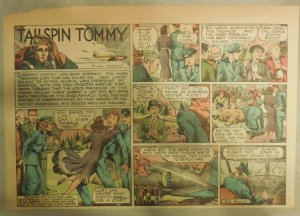 Tailspin Tommy Sunday #482 by Hal Forrest from 1/8/1939 Half Size! Rare!