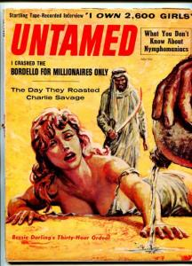 UNTAMED-JULY-1959-PULP ACTION-TORTURE-CANNIBALS-GGA-good
