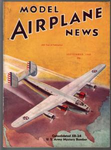 Model Airplane News 9/1940- Consolidated XB-24 Bomber-WWII era-pix-diagrams-FN