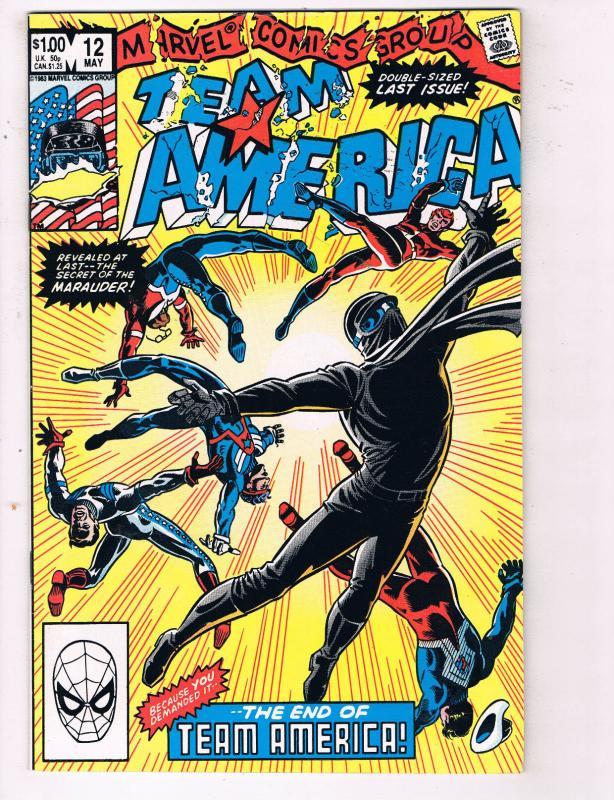 Team America #12 VF Marvel Comics Group Comic Book May 1983 DE23