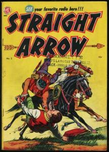 STRAIGHT ARROW #2-RED HAWK BY POWELL-1950-ME COMICS VG+