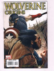 Wolverine Origins #20 VF Marvel Comic Book Way Wolverine Capt. America 2007 DE9