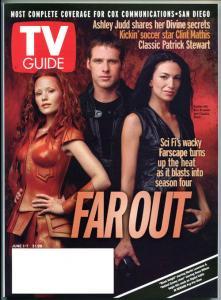 FARSCAPE TV guide, Ben Browder, Claudia Black, Raelee Hill, June 2002