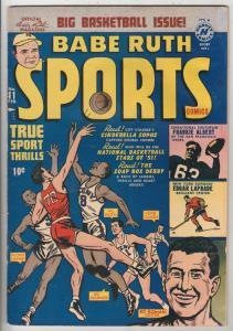 Babe Ruth Sports Comics #11 (Feb-51) VG/FN+ Mid-Grade Babe Ruth