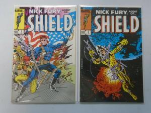 Nick Fury Agent of SHIELD set #1+2 8.0/VF (1983 2nd Series)