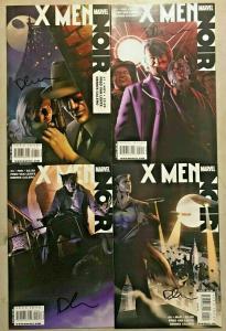 X-MEN NOIR#1-4 NM LOT 2009 FIRST PRINTS SIGNED BY DENNIS CALERO MARVEL COMICS