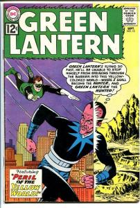 GREEN LANTERN #15 1962-SINESTRO COVER-YELLOW WORLD FN