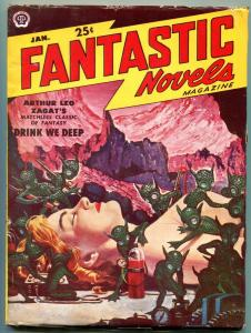 Fantastic Novels Pulp January 1951- Gruesome De Soto cover- Zagat FN