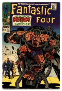 FANTASTIC FOUR #68 comic book -THING-JACK KIRBY-MARVEL VG+