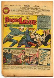 Rocky Lane #33 1952 -Fawcett Golden Age Western- Coverless