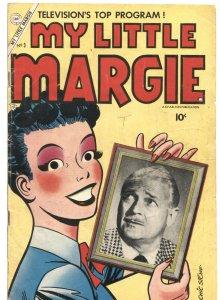 MY LITTLE MARGIE #3-1954-GAIL STORM-TV PHOTO COVERS-CHARLTON COMIC