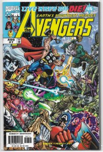 Avengers (vol. 3, 1998) # 7 FN/VF (Live Kree or Die 4) Busiek/Perez, Ms. Marvel