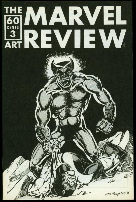Marvel Review Fanzine #3 1976- Beast - Hulk index VF/NM
