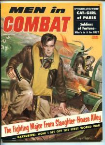 MEN IN COMBAT #1-JAN 1957-RUDY NAPPI COVER-PANCHO VILLA SKULL-SOUTHERN STATES-vf