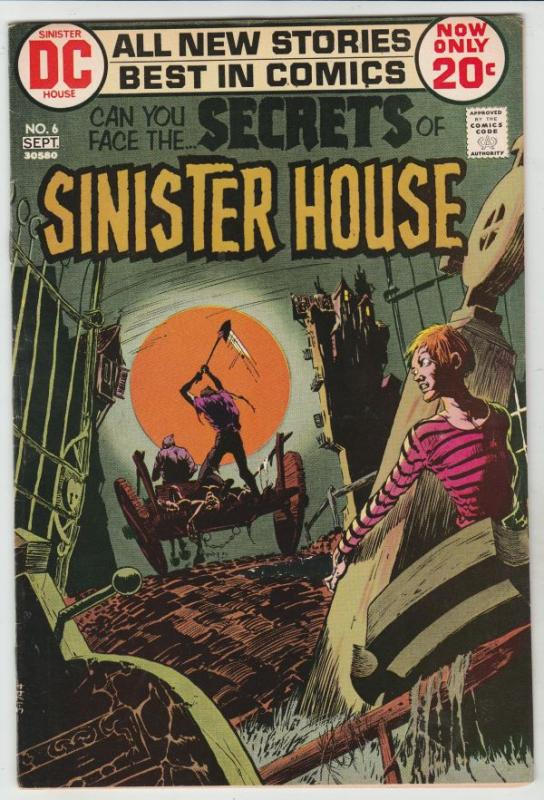 Secrets Of Sinister House #6 (Sep-72) NM- High-Grade Cain and Abel