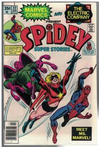 SPIDEY SUPER STORIES 22 VG-F April 1977