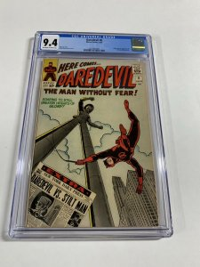 Daredevil 8 Cgc 9.4 Ow/w Pages Marvel Silver Age Near Mint!