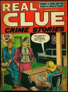Real Clue Crime Stories V.2 #12 1948-electric chair stories Golden Age VG/F