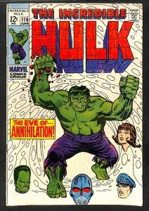 Incredible Hulk (1968) #116 GD/VG 3.0 Marvel Comics