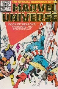 Marvel THE OFFICIAL HANDBOOK OF THE MARVEL UNIVERSE (1983 Series) #15 FN