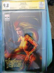 Venom #26 CGC SS 9.8 Comics Elite 1st Appearance Virus Shannon Maer gold sig.