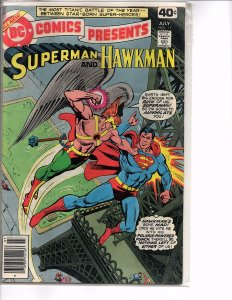 DC Comics Presents #11 Superman and Hawkman VF
