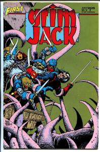 Grim Jack #12 1985-First-Timothy Truman-autographed by-William Messner Loebs-NM