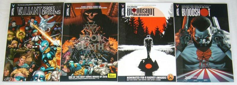 Lot of (4) Valiant TPBs with Bloodshot in them (value: $54.96) book of death