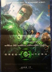 GREEN LANTERN  Promo Poster, 12 x 17,  DC Unused more in our store 548