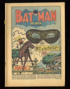 Detective Comics (1937) #157 Coverless Complete!