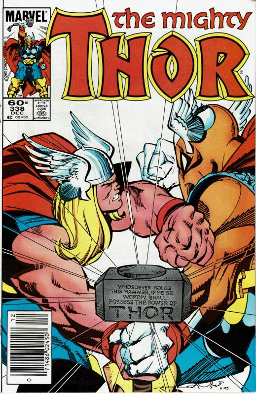 Thor #338, 9.0+, Signed by Walt Simonson, 2nd Beta Ray Bill