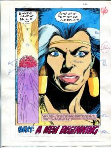 Warlord #131 Page 22 Original Color Guide 1988 DC Comics
