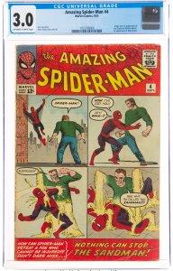 The Amazing Spider-Man #4 (Marvel, 1963) CGC GRADED 3.0