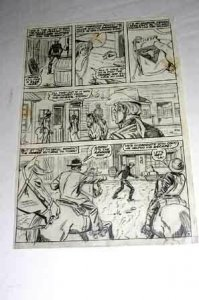 MARVEL PRODUCTION ART-RAWHIDE KID-PG 9-MARVEL PHOTOCOPY