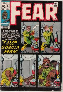 Fear #5 (Nov-71) VG+ Affordable-Grade