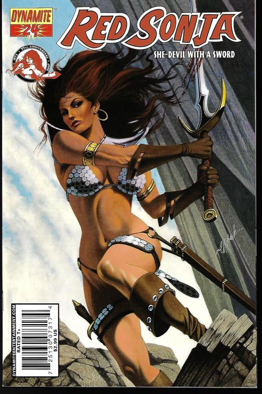 Red Sonja #24 (Dynamite Entertainment)- David Michel Beck Cover