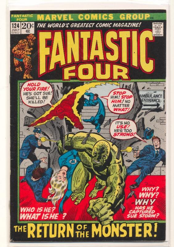 Fantastic Four (1961 series) #124, VF+ (Actual scan)