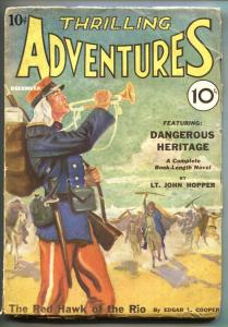 Thrilling Adventures 1/1931-First issue-RED HAWK OF THE RIO-Pulp