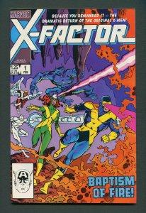 X-Factor #1  / 9.0 VFN/NM - 9.2 NM-  February 1986