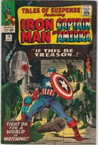 Tales of Suspense #70 (Oct-65) FN/VF Mid-High-Grade Iron Man, Captain America...