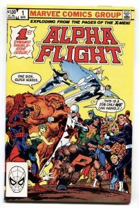 ALPHA FLIGHT #1 comic book MARVEL COMICS-1st ISSUE NM-