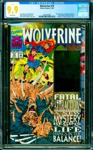 Wolverine #75 CGC Graded 9.9 Wraparound cover w/ Wolverine hologram.