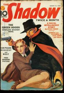 SHADOW 1938 AUG 15-PULP-WALTER GIBSON VG
