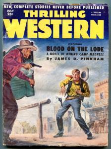 Thrilling Western Pulp July 1952- Blood on the Lode VG
