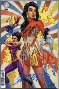 Wonder Woman #750 1960s Variant Cover SIGNED J Scott Campbell w/ COA DC Comics