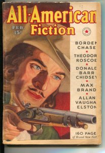 All-American Fiction #4 2/1938-Pulp violence & thrills-Murrry Leinster-Steve ...